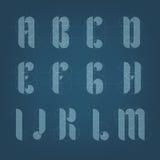 Alfabeto architettonico dell'aereo del disegno Immagini Stock Libere da Diritti