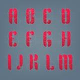 Alfabeto architettonico dell'aereo del disegno Immagine Stock Libera da Diritti