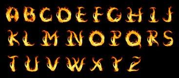 Alfabeto ardente Fotografia Stock Libera da Diritti