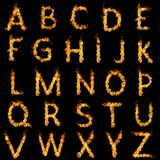 Alfabeto ardiente Fotografía de archivo libre de regalías