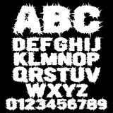 Alfabeto assustador enchido branco Foto de Stock Royalty Free