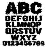Alfabeto assustador enchido do grunge Imagens de Stock Royalty Free