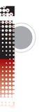 Alfabeto astratto dei retro puntini Fotografia Stock