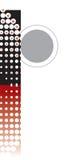 Alfabeto astratto dei retro puntini Fotografia Stock Libera da Diritti