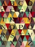Alfabeto astratto di colore Fotografie Stock Libere da Diritti