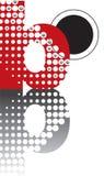 Alfabeto astratto di zen dei puntini Fotografia Stock