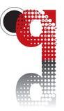 Alfabeto astratto di zen dei puntini Immagini Stock Libere da Diritti