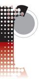 Alfabeto astratto di zen dei puntini Immagine Stock