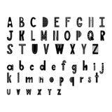 Alfabeto astratto scandinavo Manifesto di tipografia con la fonte disegnata a mano Vettore Illustartion illustrazione di stock