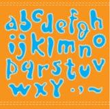 Alfabeto azul. Fotos de archivo libres de regalías