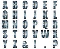 alfabeto azul abstracto de la nebulosa 3D stock de ilustración