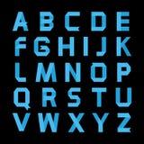 Alfabeto azul de papel del color Foto de archivo