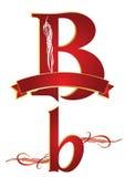 Alfabeto b stock de ilustración
