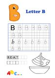 Alfabeto, barco Imagem de Stock Royalty Free