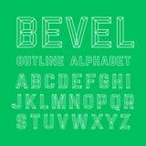 Alfabeto biselado del esquema libre illustration