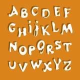 Alfabeto blanco Imágenes de archivo libres de regalías