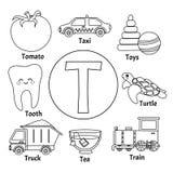 Alfabeto bonito das crianças do vetor ilustração royalty free