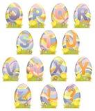 Alfabeto bonito de Easter Imagens de Stock Royalty Free