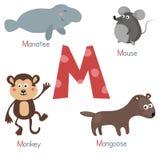 Alfabeto bonito do jardim zoológico ilustração royalty free