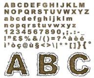 Alfabeto bruciato della pergamena Immagini Stock Libere da Diritti
