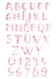 Alfabeto burbujeante Imagen de archivo libre de regalías