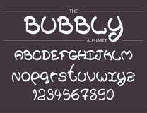 Alfabeto burbujeante moderno del vector Fotografía de archivo