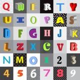 Alfabeto cómico Imagen de archivo libre de regalías