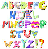 Alfabeto cómico Imagem de Stock