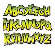 Alfabeto cómico de la fuente de la historieta Vector Imágenes de archivo libres de regalías
