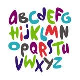 Alfabeto cómico de la fuente de la pintada de la historieta Vector Fotos de archivo libres de regalías