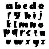 Alfabeto cômico do vetor Letras feitas sob encomenda exclusivas Tipografia da rotulação e do costume para o logotipo dos projetos ilustração stock