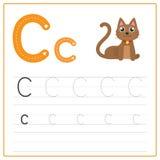 Alfabeto C do cartão da escrita ilustração royalty free