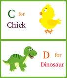 Alfabeto C e D ilustração do vetor