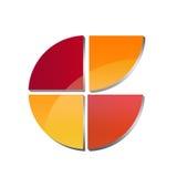Alfabeto C fatto con i settori circolari Immagini Stock