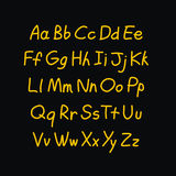 Alfabeto cômico da garatuja do estilo do contorno Vetor Foto de Stock