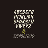 Alfabeto caligráfico del vector en estilo indio Fotografía de archivo libre de regalías