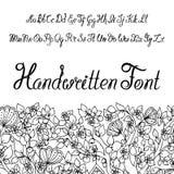 Alfabeto calligrafico dello scritto di Handwritter Potete usarlo come fonte per la vostra progettazione royalty illustrazione gratis