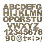 Alfabeto - cartas del metal oxidado con los remaches stock de ilustración