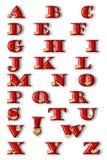 Alfabeto celebratorio Immagine Stock Libera da Diritti