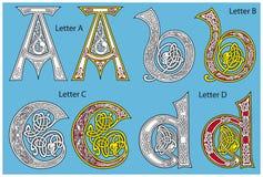 Alfabeto celta antigo ilustração royalty free