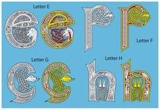 Alfabeto celtico antico Fotografie Stock Libere da Diritti