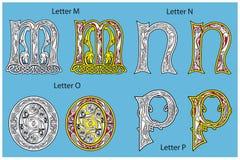 Alfabeto celtico antico Immagini Stock Libere da Diritti