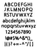 Alfabeto cepillado Grunge Fotos de archivo libres de regalías