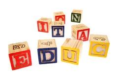 Alfabeto che impara i blocchi Fotografie Stock