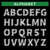 Alfabeto chocado ilustração do vetor