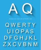 Alfabeto clásico con efecto de sombra largo moderno Imagen de archivo