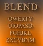 Alfabeto clásico con efecto de sombra largo moderno Fotografía de archivo