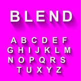 Alfabeto classico con effetto ombra lungo moderno Fotografia Stock