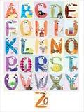Alfabeto, CMYK Imagen de archivo