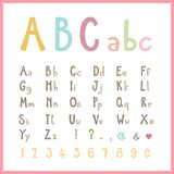 Alfabeto colorato sveglio Fotografia Stock